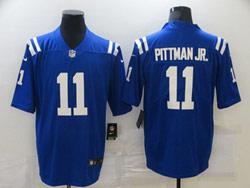 Mens Nfl Indianapolis Colts #11 Michael Pittman Jr. Blue Vapor Untouchable Limited Nike Jersey