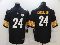 Mens Nfl Pittsburgh Steelers #24 Benny Snell Jr. Black Vapor Untouchable Limited Nike Jersey
