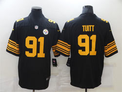 Mens Nfl Pittsburgh Steelers #91 Stephon Tuitt Black Color Rush Vapor Untouchable Limited Nike Jersey