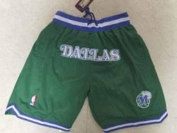 Mens Nba Dallas Mavericks Green Just Don Pocket Shorts