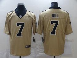 Mens Nfl New Orleans Saints #7 Taysom Hill Gold Nike Inverted Legend Vapor Untouchable Limited Jersey