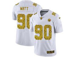 Mens Nfl Pittsburgh Steelers #90 T. J. Watt White Leopard Vapor Untouchable Limited Nike Jersey