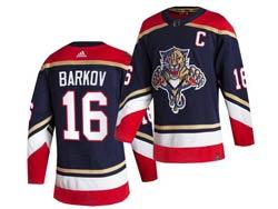 Mens Nhl Florida Panthers #16 Aleksander Barkov Blue 2021 Reverse Retro Alternate Adidas Jersey