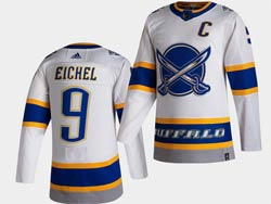 Mens Nhl Buffalo Sabres #9 Jack Eichel White 2021 Reverse Retro Alternate Adidas Jersey