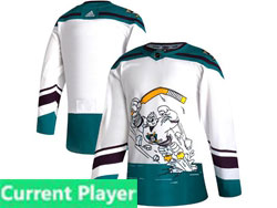 Mens Nhl Anaheim Mighty Ducks Current Player White 2021 Reverse Retro Alternate Adidas Jersey
