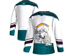 Mens Nhl Anaheim Mighty Ducks Blank White 2021 Reverse Retro Alternate Adidas Jersey