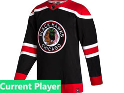Mens Nhl Chicago Blackhawks Black Current Player 2021 Reverse Retro Alternate Adidas Jersey