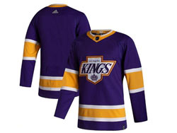 Mens Nhl Los Angeles Kings Blank Purple 2021 Reverse Retro Adidas Jersey With C Patch