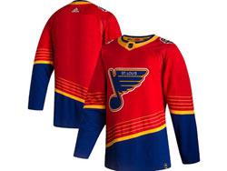 Mens Nhl St.louis Blues Blank Red 2021 Reverse Retro Alternate Adidas Jersey