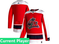 Mens Nhl Columbus Blue Jackets Current Player Red 2021 Reverse Retro Alternate Adidas Jersey