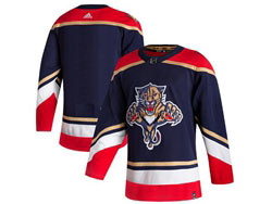 Mens Nhl Florida Panthers Blank Blue 2021 Reverse Retro Alternate Adidas Jersey