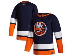 Mens Nhl New York Islanders Blank Blue 2021 Reverse Retro Alternate Adidas Jersey
