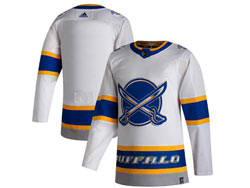 Mens Nhl Buffalo Sabres Blank White 2021 Reverse Retro Alternate Adidas Jersey