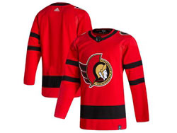 Mens Nhl Ottawa Senators Blank Red 2021 Reverse Retro Alternate Adidas Jersey
