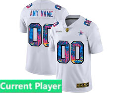 Mens Nfl Dallas Cowboys Current Player White Rainbow Vapor Untouchable Limited Nike Jersey