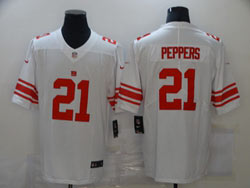 Mens Nfl New York Giants #21 Jabrill Peppers White Vapor Untouchable Limited Nike Jersey