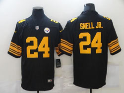 Mens Nfl Pittsburgh Steelers #24 Benny Snell Jr. Black Vapor Untouchable Color Rush Limited Nike Jersey