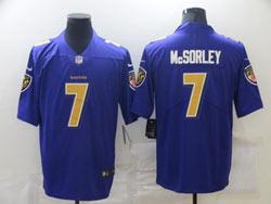 Mens Nfl Baltimore Ravens #7 Trace Mcsorley Purple Vapor Untouchable Color Rush Limited Nike Jersey