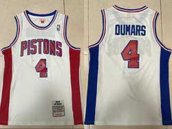 Mens Nba Detroit Pistons #4 Joe Dumars White 1988-89 Mitchell&ness Hardwood Classics Swingman Jersey