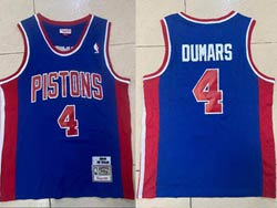 Mens Nba Detroit Pistons #4 Joe Dumars Blue 1988-89 Mitchell&ness Hardwood Classics Swingman Jersey
