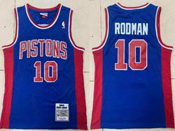 Mens Nba Detroit Pistons #10 Dennis Rodman Blue 1988-89 Mitchell&ness Hardwood Classics Swingman Jersey