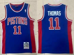 Mens Nba Detroit Pistons #11 Isiah Thomas Blue 1988-89 Mitchell&ness Hardwood Classics Swingman Jersey
