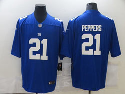 Mens Nfl New York Giants #21 Jabrill Peppers Blue Vapor Untouchable Limited Nike Jersey