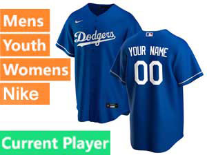 Mens Womens Youth Nike 2020 Mlb Los Angeles Dodgers Current Player Cool Base Blue Alternate Jersey