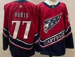 Mens Nhl Washington Capitals #77 Tj Oshie Red 2021 Reverse Retro Alternate Adidas Jersey