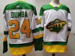 Mens Nhl Minnesota Wild #24 Matt Dumba White 2021 Reverse Retro Alternate Adidas Jersey