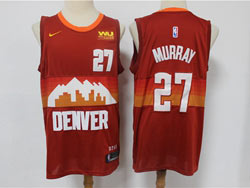 Mens Nba Denver Nuggets #27 Jamal Murray Red 2020-21 City Edition Swingman Nike Jersey