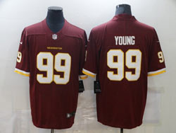 Mens Nfl Washington Redskins #99 Chase Young Red Vapor Untouchable Football Team Nike Jersey