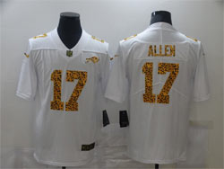 Mens Nfl Buffalo Bills #17 Josh Allen White Leopard Vapor Untouchable Limited Nike Jersey