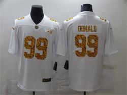 Mens Nfl Los Angeles Rams #99 Aaron Donald White Leopard Vapor Untouchable Limited Nike Jersey