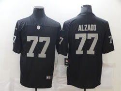 Mens Nfl Las Vegas Raiders #77 Alzado Black Vapor Untouchable Limited Nike Jersey