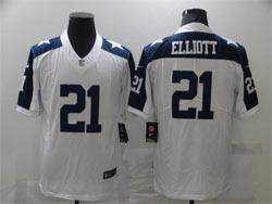 Mens Nfl Dallas Cowboys #21 Ezekiel Elliott White Thanksgiving Vapor Untouchable Limited Nike Jersey