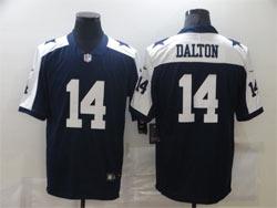 Mens Nfl Dallas Cowboys #14 Andy Dalton Blue Thanksgiving Vapor Untouchable Limited Nike Jersey