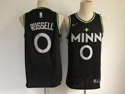 Mens 2021 Nba Minnesota Timberwolves #0 D'angelo Russel Black City Edition Nike Swingman Jersey