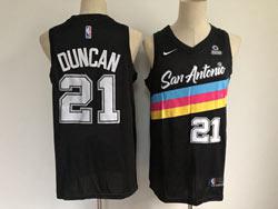 Mens Nba San Antonio Spurs Spurs #21 Tim Duncan Black 2021 City Edition Nike Swingman Jersey