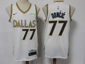 Mens Nba Dallas Mavericks #77 Luka Doncic White 2020-21 City Edition Nike Jersey