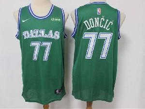 Mens Nba Dallas Mavericks #77 Luka Doncic Green 2020-21 Classic Edition Original Nike Jersey