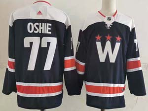 Mens Nhl Washington Capitals #77 Tj Oshie 2020-21 Alternate Premier Adidas Navy Blue Jersey