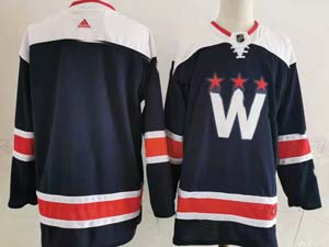 Mens Nhl Washington Capitals Blank 2020-21 Alternate Premier Adidas Blue Navy Jersey