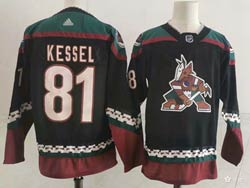 Mens Nhl Arizona Coyotes #81 Phil Kessel Alternate Premier Black Adidas Jersey