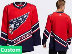 Mens Women Youth Nhl Washington Capitals Current Player Red 2021 Reverse Retro Alternate Adidas Jersey