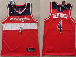 Mens 2021 Nba Washington Wizards #4 Russell Westbrook Red Icon Edition Swingman Nike Jersey