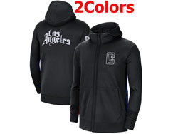Mens Nba Los Angeles Clippers Nike Training Clothes Zip Hoodie Jacket With Pocket 2 Colors