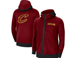 Mens Nba Cleveland Cavaliers Red Nike Training Clothes Zip Hoodie Jacket With Pocket
