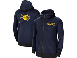 Mens Nba Indiana Pacers Blue Nike Training Clothes Zip Hoodie Jacket With Pocket