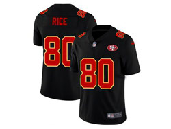 Mens Nfl San Francisco 49ers #80 Jerry Rice 2021 Black 3th Vapor Untouchable Limited Nike Jersey